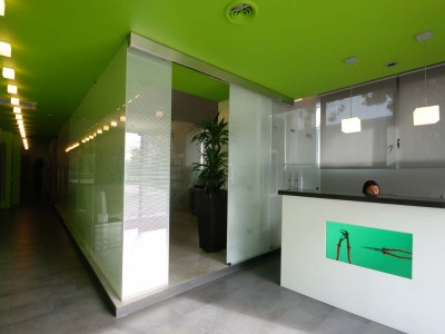 Roberto Silvestri Architects, a office with painted walls in Milan