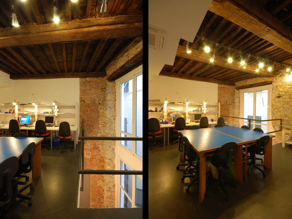 A TIMBER ROOF IN OUR HEADQUARTERS IN GENOA