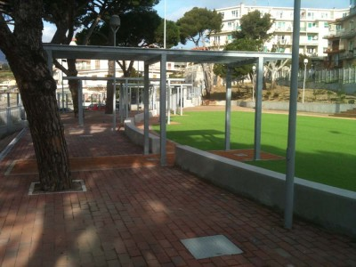 Roberto Silvestri Architects. Park in Sanremo with sport facilities.